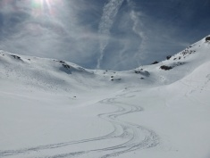 Continuing our run down Vallonnets, Val d'Isere