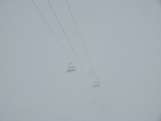 Suddenly, the Pyramides chairlift