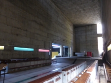 The pared down nave