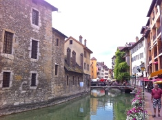 Annecy, river Thiou