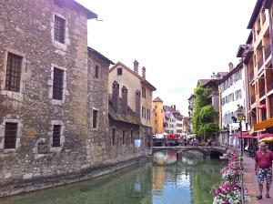 Annecy, river Thiou