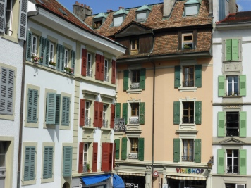 Houses in old Lausanne