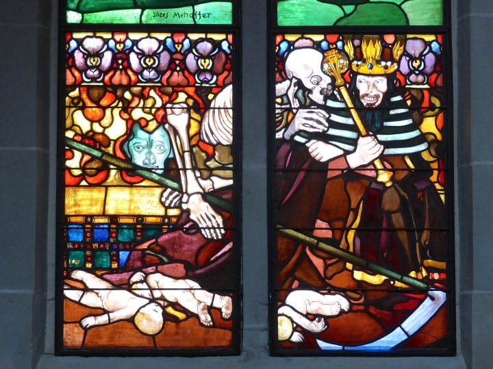 Fribourg, St Nicholas: stained glass by Mehoffer