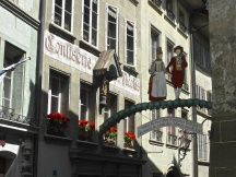 Fribourg, old town: street of the faithful husbands and model wives