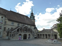 Fribourg, town hall square
