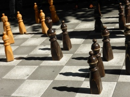 Chess board behind the parliament