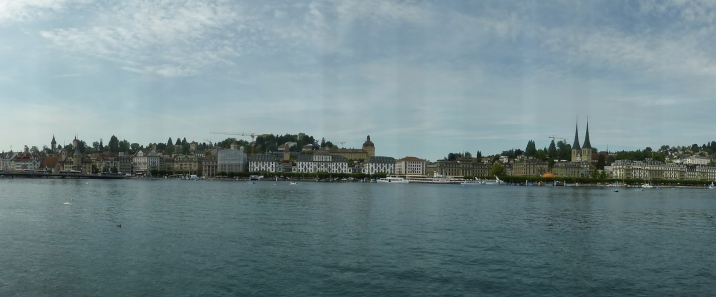 Lucerne: view of the old town