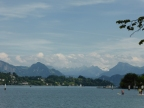 Lucerne: lake and mountains