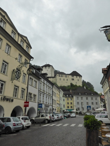 Feldkirch: Neustadt street, with the Schatten castle