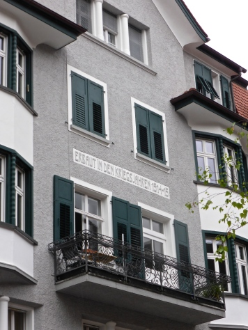 Feldkirch: house built during the first world war