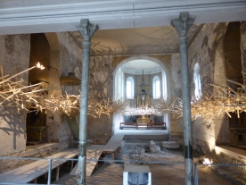 Feldkirch: installation in the church on market square