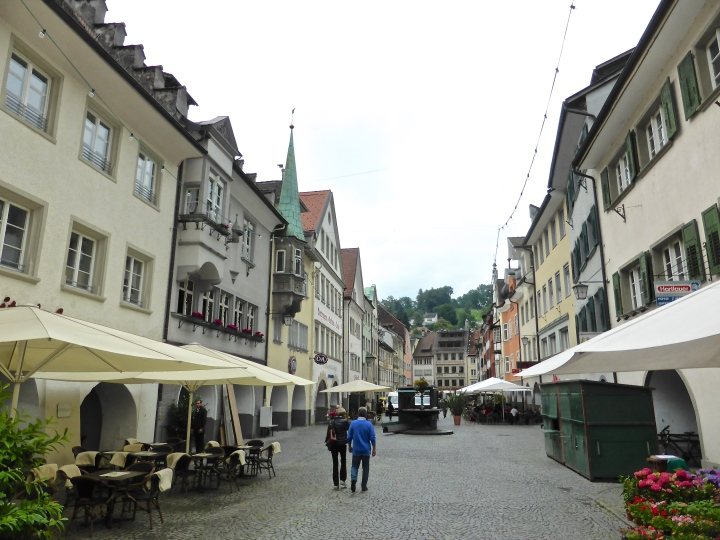 Feldkirch: market square, pretty even on a dull day