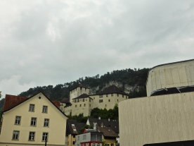 Feldkirch: the partly built new cultural centre and Schatten castle