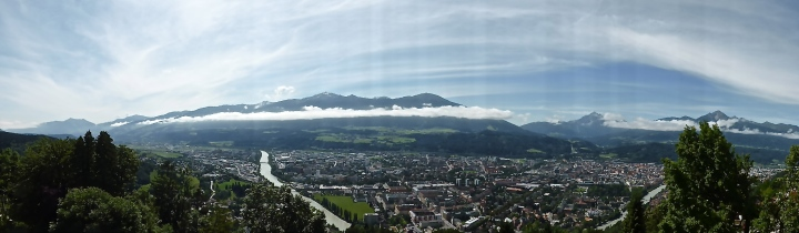 View from a ridge: Innsbruck from Hungerburg