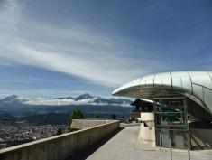 Hungerburg funicular: at the top