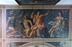 Schloss Ambras: painted ceiling in the armoury room