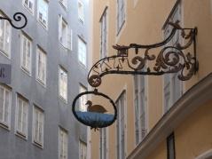 Shop sign in old Salzburg