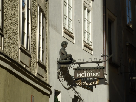 Shop sign in old Salzburg