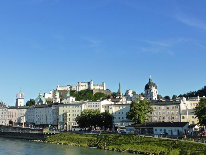 View over Salzburg castle