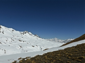 Looking back towards Mont Blanc