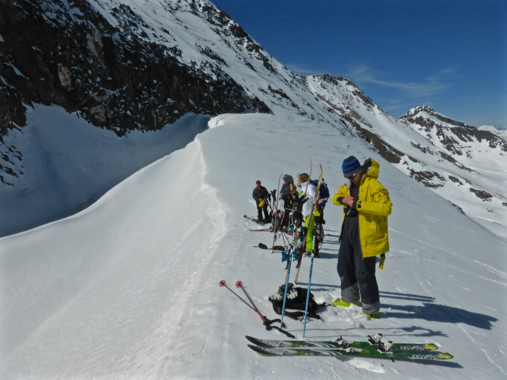 Glacier du Gros Caval: skins off