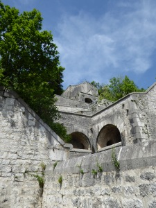 The fortifications down from the bastille