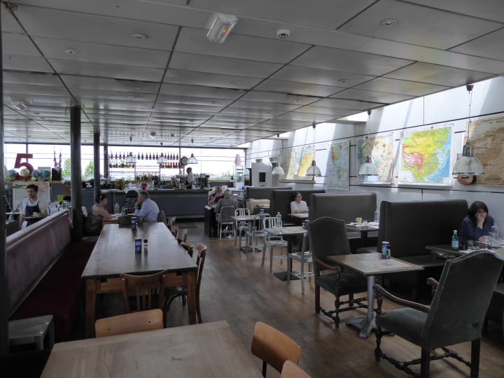 Chilled: friendly staff and good food at the museum's café