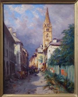 19th century painting of Barcelonnette (c) La Sapiniére