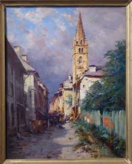 19th century painting of Barcelonnette (c) La Sapiniére