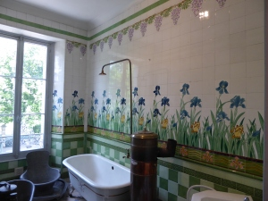 The bathroom at La Sapinière