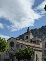 The Romanesque church in Sisteron