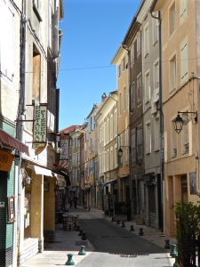 Sisteron: in the old town