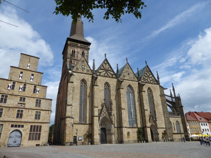 Osnabrück: the Marienkirche, bombed in 1944 and restored after the war