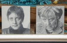 Osnabrück: Angela Merkel, then and now