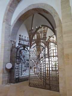 Osnabrück: wrought-iron gate in the cathedral