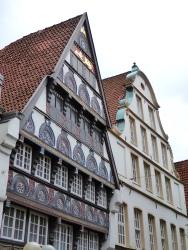 Osnabrück: gothic timbered houses