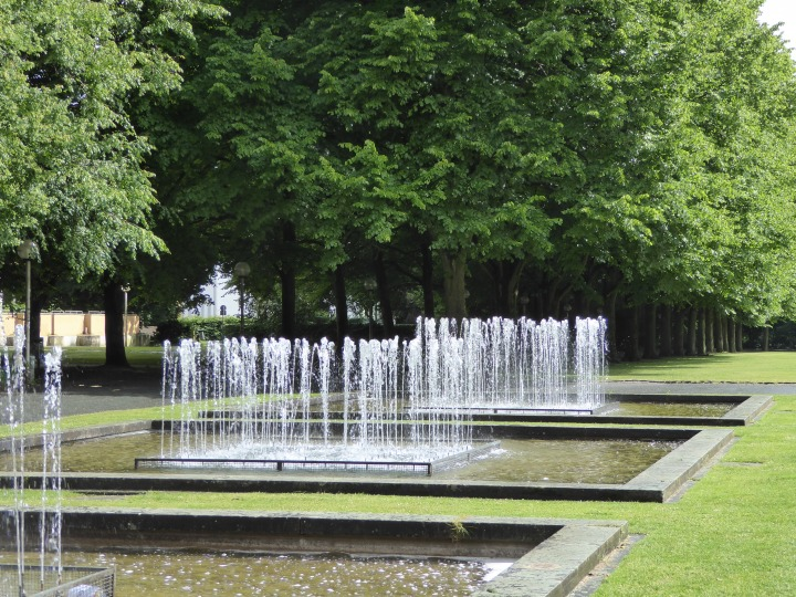 Ösnabruck: fountains at the back of the old schloss