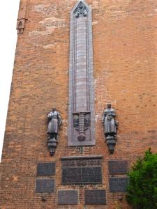 Buxtehude: war memorial on the Petrikirche, the church of St Peter