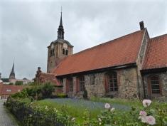 Flensburg: the Johanniskirche under leaden skies