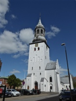 Budolfi church: Aalborg's white-rendered cathedral