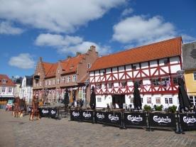 Aalborg: square in the pedestrianised centre