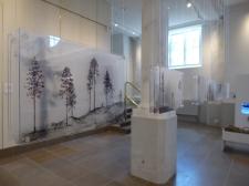 Göteborg cathedral: acrylic scenes by textile artist Linn Warme