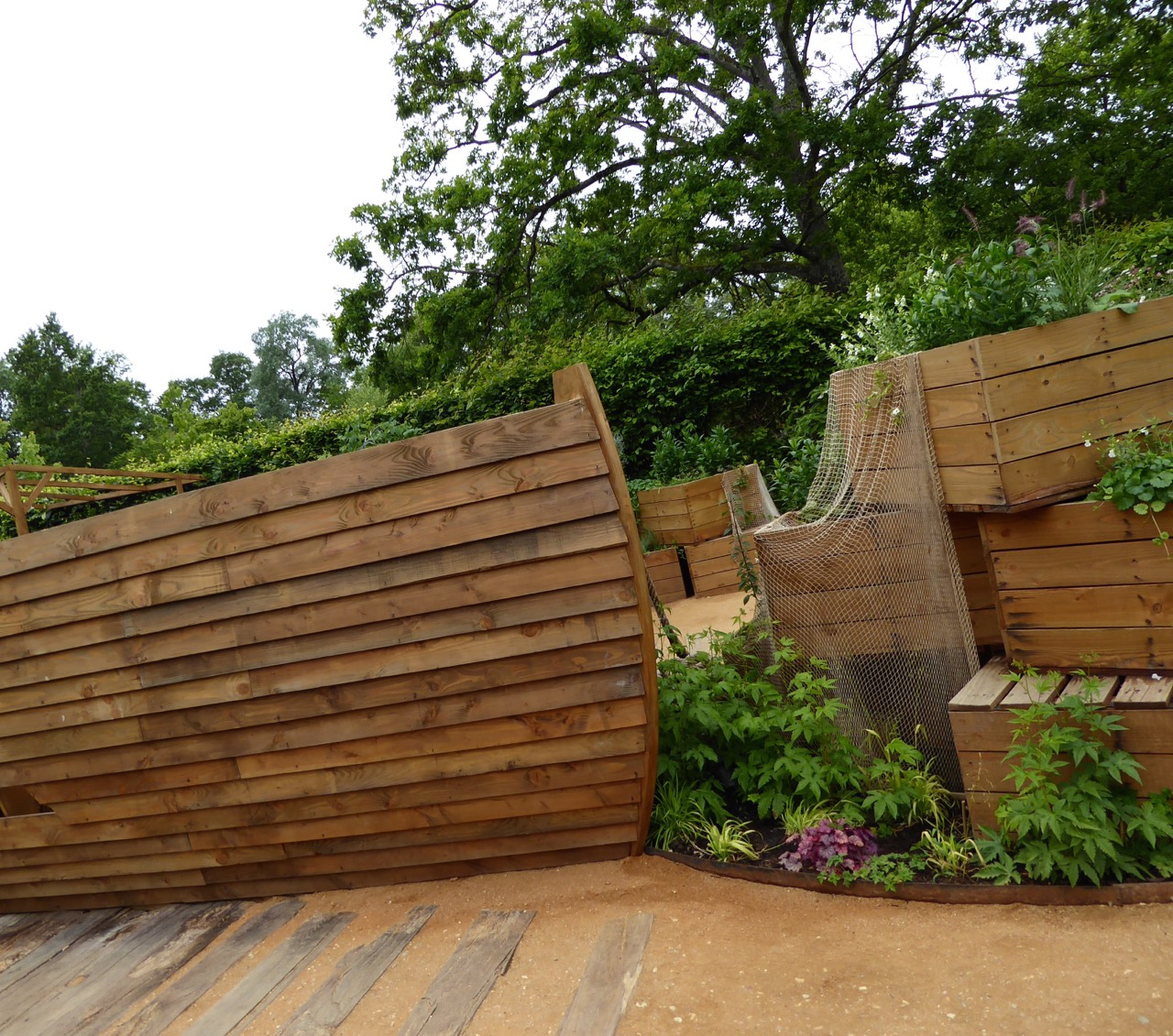 Linnaeus' ark: plants in crates ready to be loaded on the ark