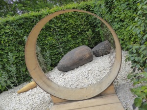 The Seeds Garden: oversized acorn sculpture