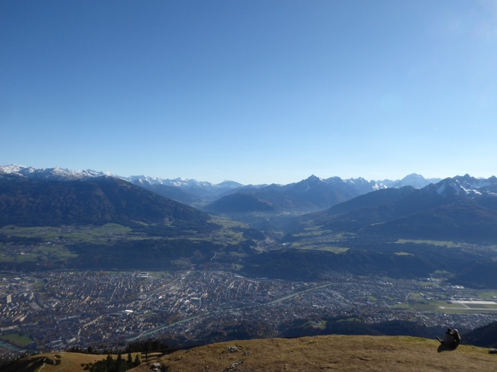 View over Innsbruck from the Seegrubbe mid-station