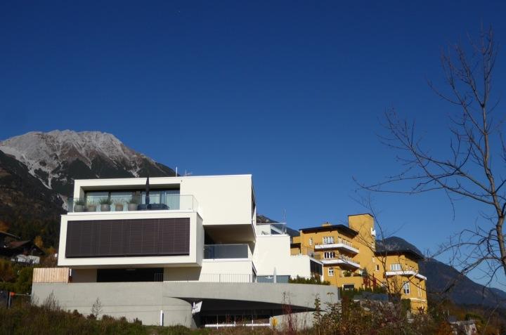 Modern apartment blocks in Hungerburg