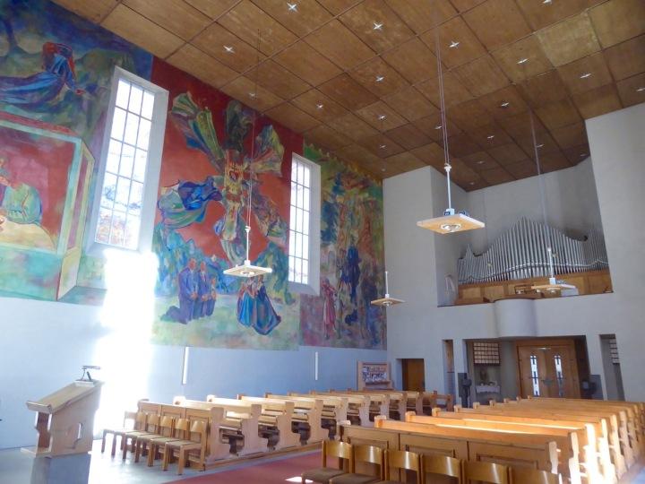 Theresien Kirche: Max Weiler's frescoes