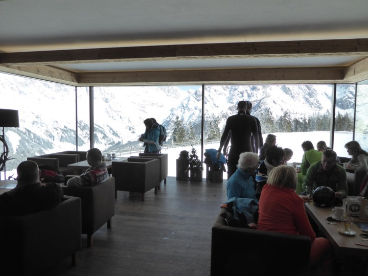 The picture window at the Steinbockalm