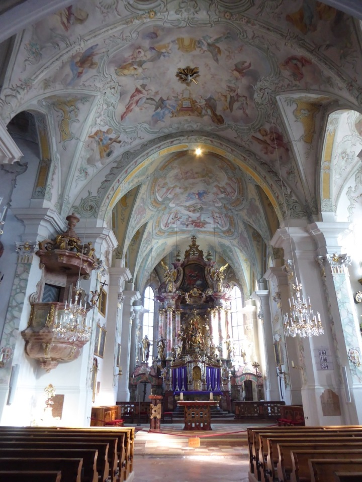 Interior of the church in Maria Alm