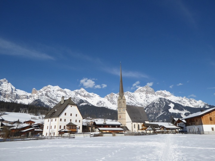 Maria Alm: the church and grain store